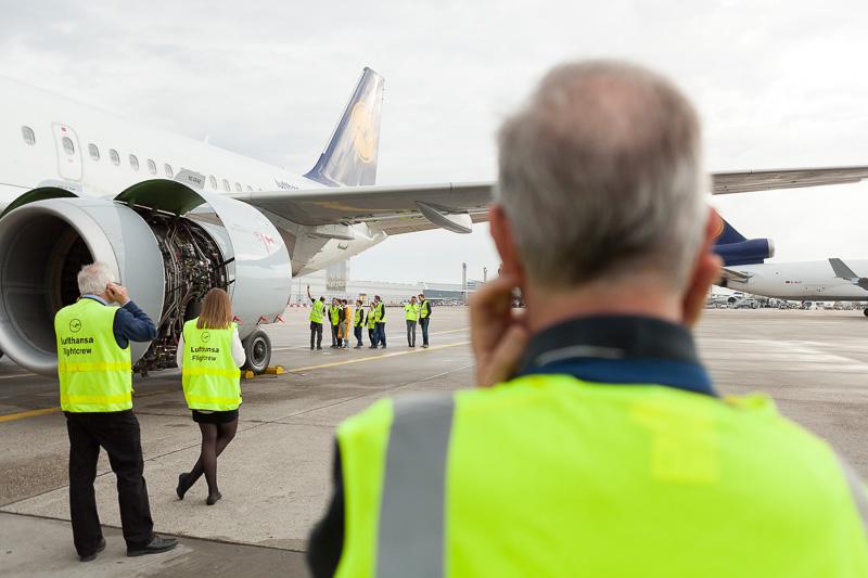 Landetraining Lufthansa Airbus A319 Manuela Doerr